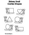 Snail shapes printables