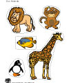 zoo animals printables