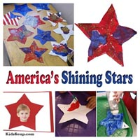4th of July preschool lesson, rhymes, and craft