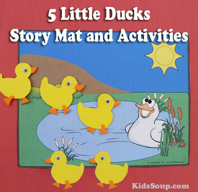 5 Little Ducks Went Out One Day Story Mat And Activities