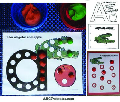 A is for apple letter activities, printables and emergent reader for preschool