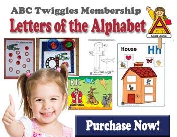 ABC Twiggles Curriculum Letters of the Alphabet preschool activities
