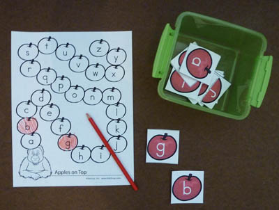 Letter of the Alphabet Game and printables for preschool and kindergarten
