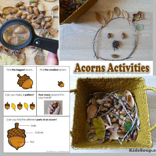 Acorns and Squirrels preschool activities and games