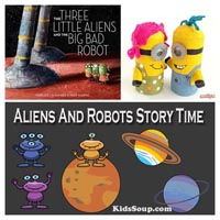 Preschool Kindergarten Aliens and Robots Story Time Activities