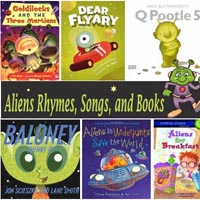 Preschool Kindergarten Aliens Robots Books and Rhymes
