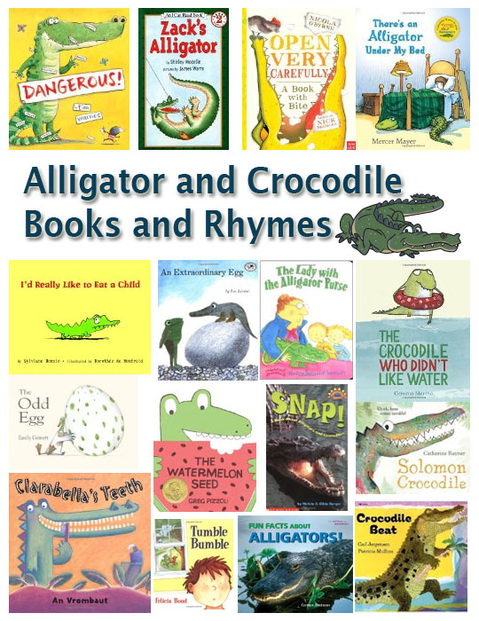d893c656dc2ad8 What better way to introduce the letter A or the cr consonant blend to your  preschoolers than with some alligator and crocodile books and rhymes.