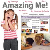 Preschool Kindergarten Amazing Me Weekly Plan and Activities