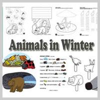 Preschool and Kindergarten Animals in Winter Activities and Crafts