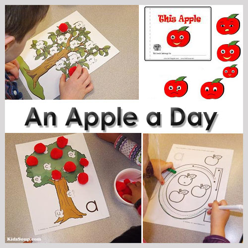 An apple a day preschool activities and games