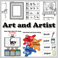 Preschool Kindergarten Artist Activities and Crafts