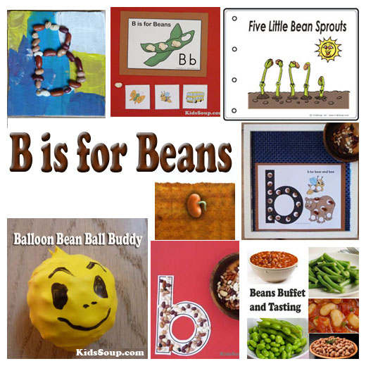 Beans activities, games, and lessons for preschool and kindergarten