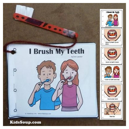 Preschool Kindergarten Brush Your Teeth Activities and Booklet Craft