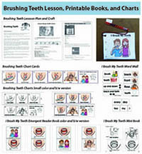 Healthy Teeth lesson and activities for preschool and kindergarten