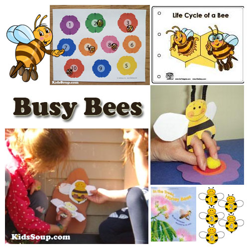preschool bees activities, crafts, games and science lesson plan