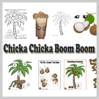 Preschool Kindergarten Chicka Chicka Boom Boom Activities