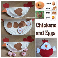 Preschool Kindergarten Chickens and Eggs Activities and Crafts
