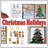 Preschool Kindergarten Christmas Activities and Crafts