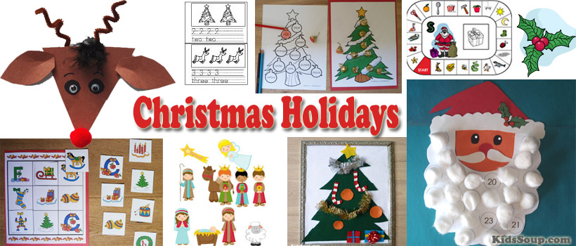 preschool and kindergarten Christmas tree activities and crafts
