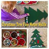 Preschool Christmas Tree Fine Motor Skills Activity