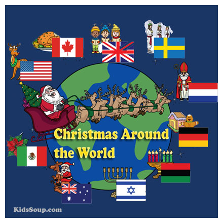 Preschool and Kindergarten Christmas Around the World Activities and Crafts
