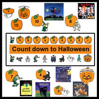 Preschool Count Down to Halloween Activities and Books
