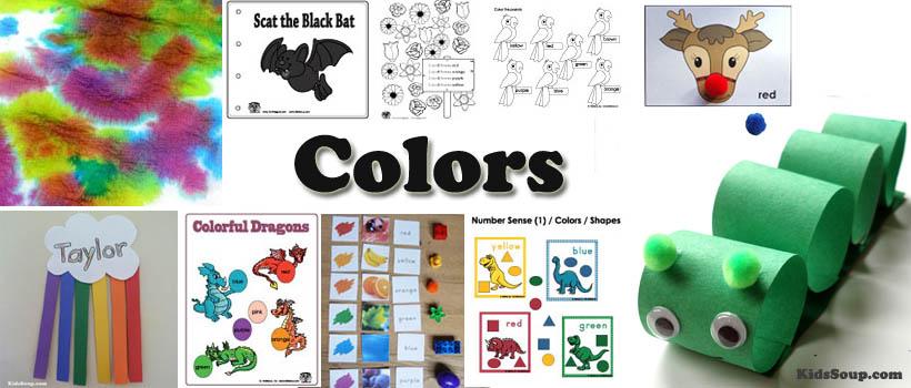 Preschool and kindergarten colors activities, printables, and crafts
