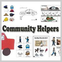 Preschool Kindergarten Community Helpers Activities and Lessons
