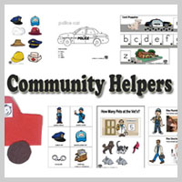Preschool Kindergarten Community Helpers Activities and Crafts