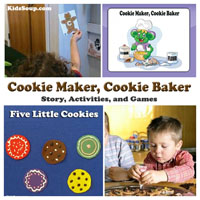 Preschool Kindergarten Cookie Maker Book and Activities