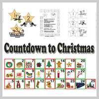 Preschool Kindergarten Count Down to Christmas Activities