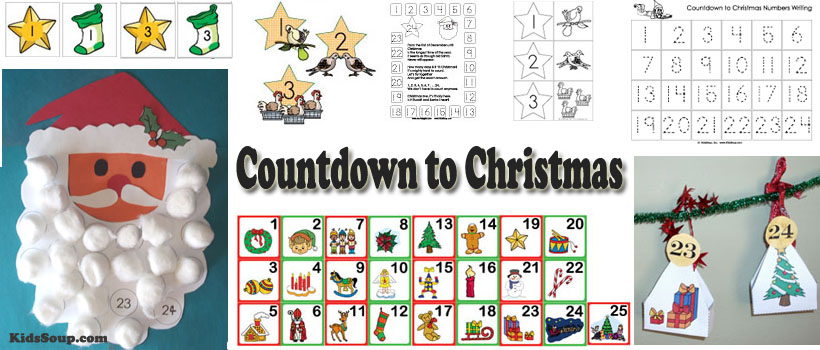 Countdown to Christmas and Advent Calendar activities and crafts for kids