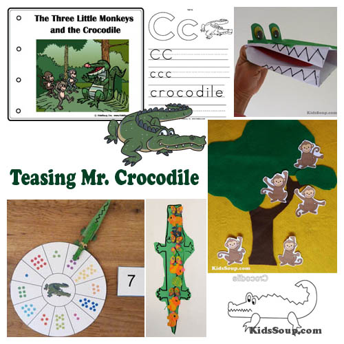 Crocodiles preschool activities, games, and crafts