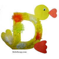 Preschool D for Duck Craft and Activity