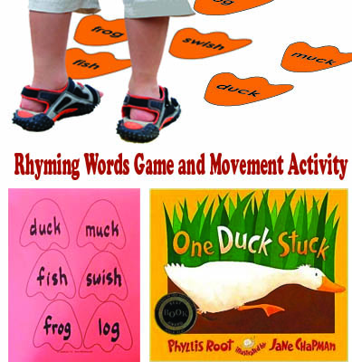 One Duck Stuck Rhyming Words Game And Movement Activity