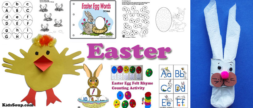 preschool and kindergarten Easter activities, crafts, and games