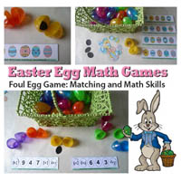 Preschool Kindergarten Easter Eggs Math Activities