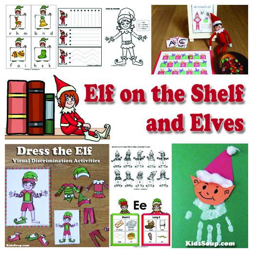Preschool and Kindergarten Elves Activities and Crafts