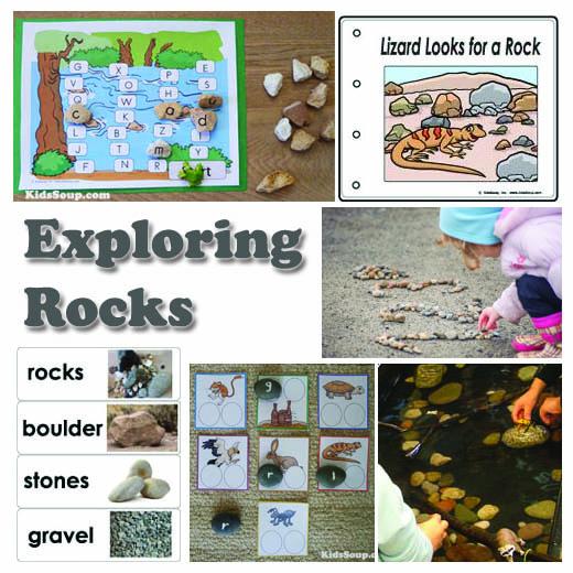 Rocks activities, lessons, and games for preschool and kindergarten