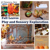 Preschool and Kindergarten Fall and Leaves Sensory Play