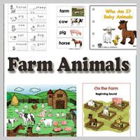 Preschool, Kindergarten Farm Animals Activities and Crafts