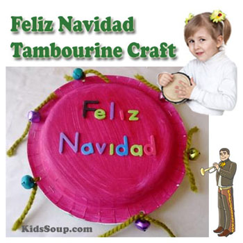 Preschool Kindergarten Feliz Navidad Song, Activity, and Craft