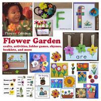Preschool Kindergarten Flower Garden Activities and Crafts