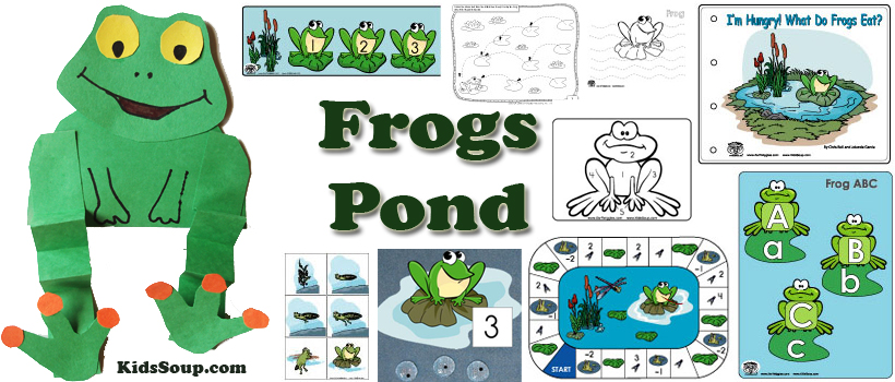 Frogs and Pond Activities, Crafts, and Printables for preschool