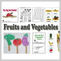 Preschool Kindergarten Fruits and Vegetables Activities and Crafts