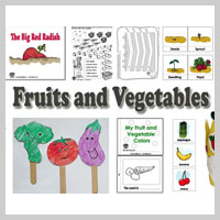 Kindergarten, Preschool Fruits and Vegetables Activities and Crafts