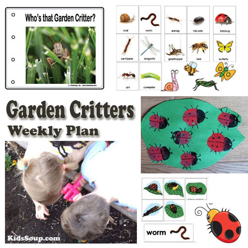 Garden Critters Preschool weekly plan and activities