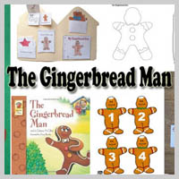 Preschool Kindergarten The Gingerbread Man Activities and Crafts