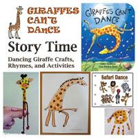 Preschool Giraffes Can't Dance Activities and Crafts
