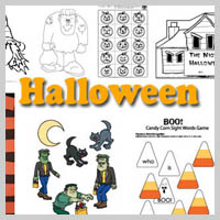 Preschool Kindergarten Halloween Activities and Crafts